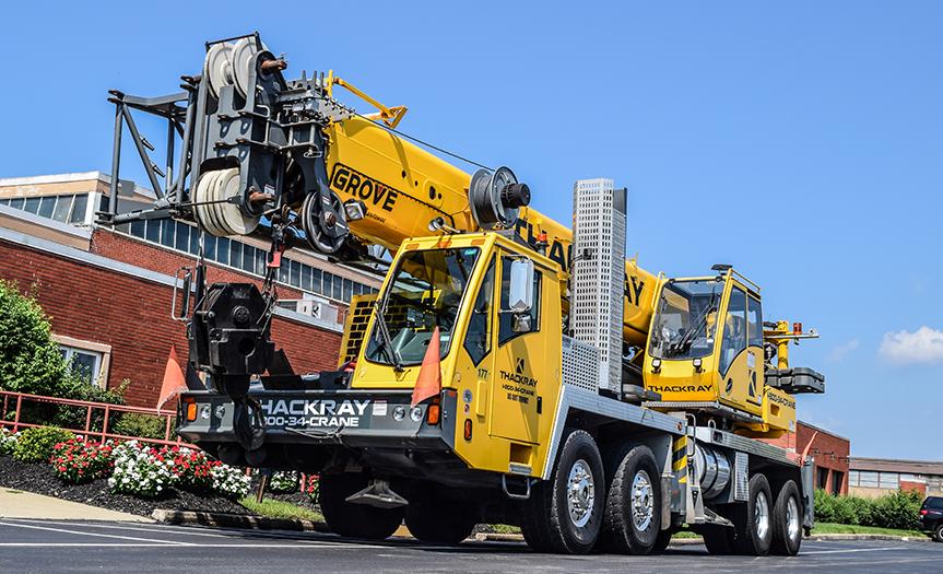 Thackray Crane Hydraulic Truck Crane TMS9000E 110 ton Grove crane (12)