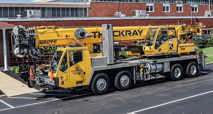 Thackray Crane Hydraulic Truck Crane TMS9000E 110 ton Grove crane (13)